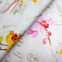 Tecido corino orquídeas - Larg. 1,40 m