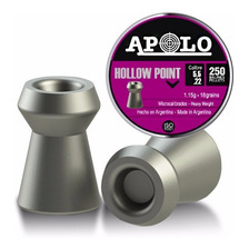Balines Apolo Hollow Point X250 5.5mm Aire Comprimido - Swat