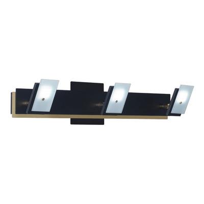 Aplique Moderno Movible Rayo 3 Luces X 18w Led Negro