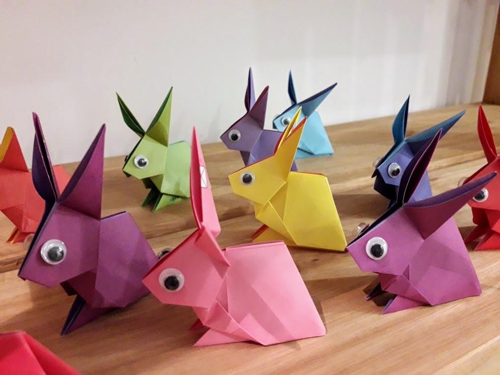 Conejito de origami para souvenir