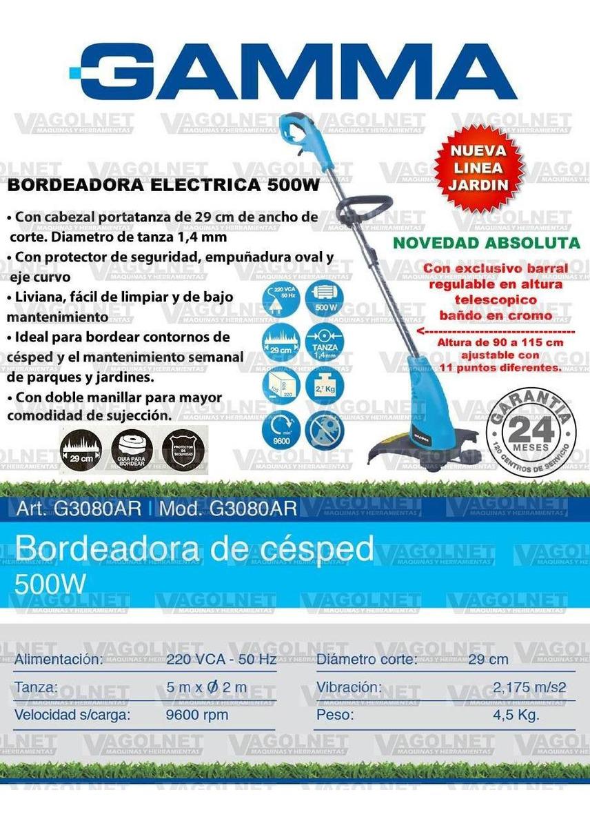 Bordeadora Electrica 500 Watts Gamma Jardin Altura Regulable