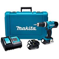 Furadeira e Parafusadeira de Impacto a Bateria-18V + 2 Baterias + Maleta - DHP453SYE - Makita