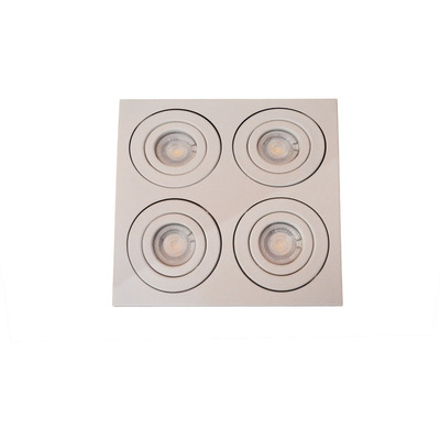 Plafon Gam 2929 Aplique Cuadrado 4 Luces Gu10 Direccionable