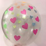 globo corazones fluo desinflado apto helio