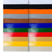 Lona para toldo Unilite laranja  avesso da mesma cor (440gr) larg.1,41 m