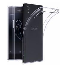 Funda Tpu Ultra Fina Transparente + Templado Sony Xperia L1
