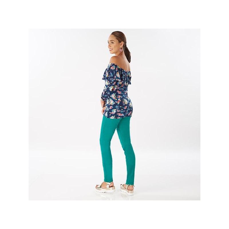 Pantalón azul turquesa 014303