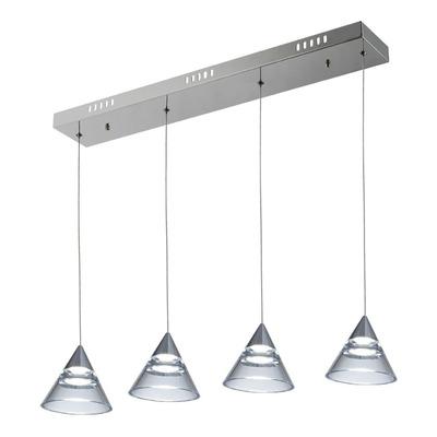 Lampara Colgante 4 Luces Omru 20w Moderno Led Diseño Vig