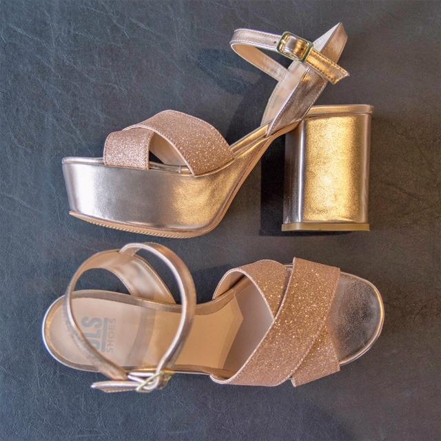 Sandalia 1933 Glitter Cobre