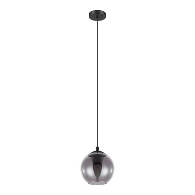 Colgante Ariscani 1 Luz Led Acero Negro Deco Moderno Eglo
