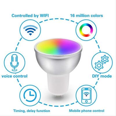 Lámpara Led Smart Gu10 3,5w Wifi Celular App Tuya