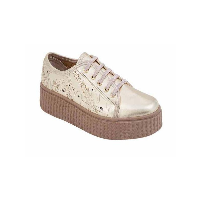 Sneakers dorados 017465