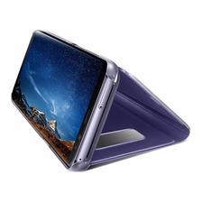 Funda Clear View Flip Cover Samsung J7 Prime 2017 + Templado