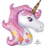 globo unicornio rosa 60cm desinflado apto helio
