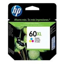 Cartucho Hp 60xl Original Tinta Color Cc644w Original