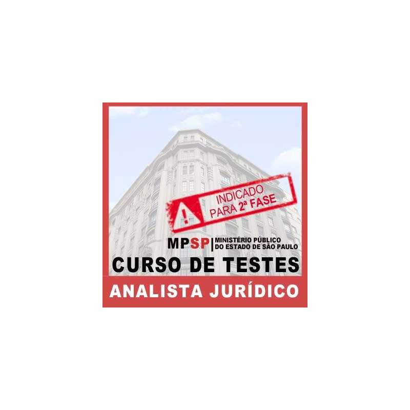 Curso de Testes Direito Civil Analista Jurídico MP SP 2018