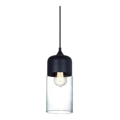 Colgante Nero 3 Luces Vintage Cristal Transparente Deco Lk
