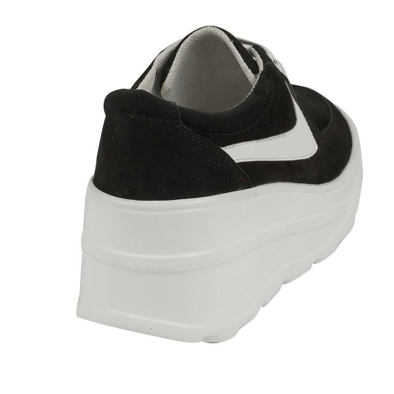 Sneakers plataforma negros con blanco  015816