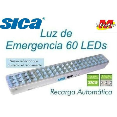 Luz de emergencia 60 led 10hs autonoma sica electro medina - Luz de emergencia precio ...