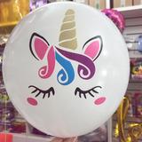 globo blanco unicornio desinflado apto helio/aire
