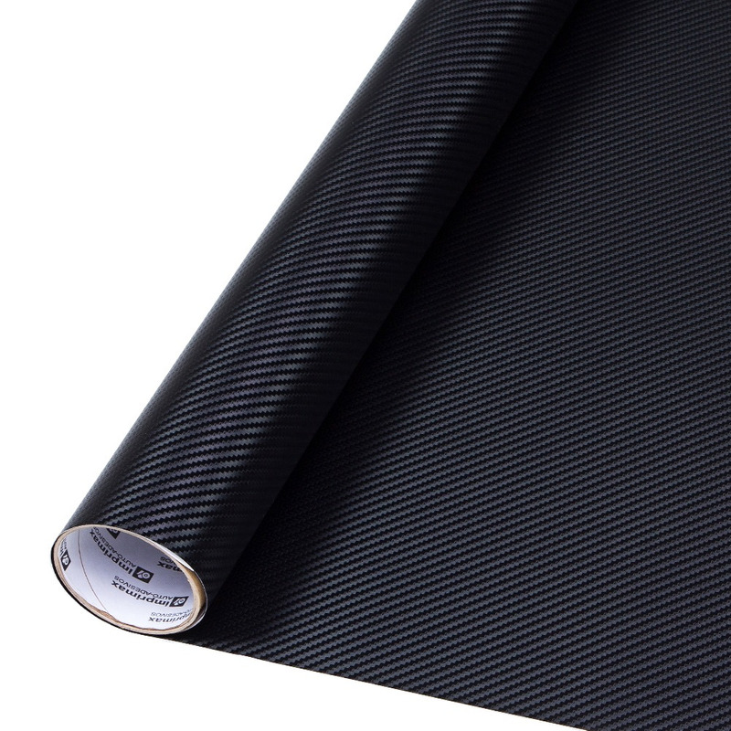 Adesivo fibra de carbono preto larg 1,40 m