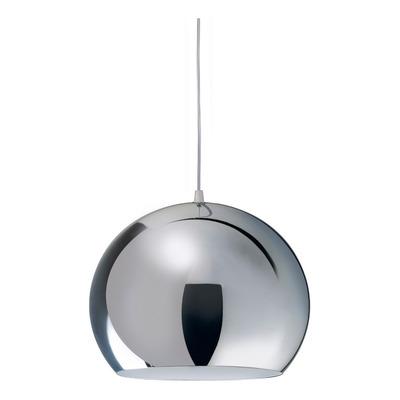 Lampara Colgante 1 Luz Cromo 20cm Moderno Led Luz Desing