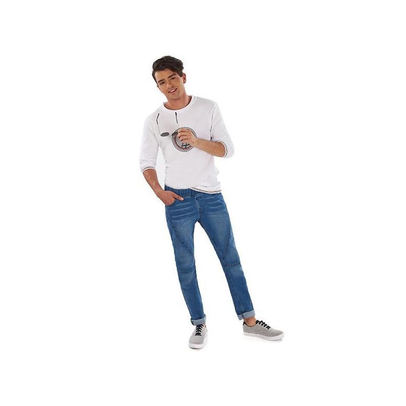 Pantalón mezclilla clara 014629