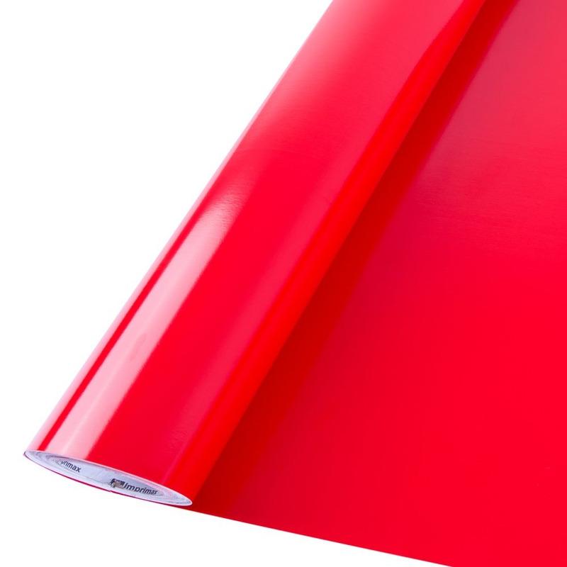 Vinil adesivo Goldmax vermelho vivo larg. 0,61 m