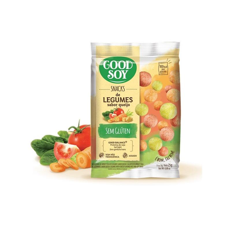 Salgadinho de Soja Snack Legumes ao Queijo - 25g GoodSoy