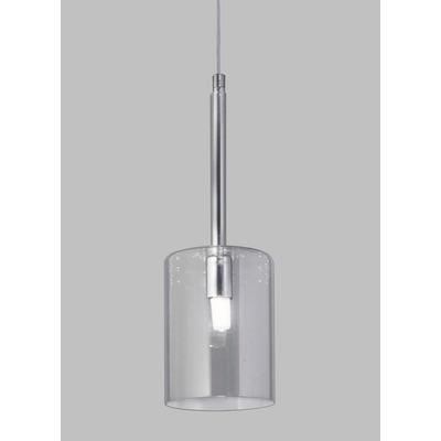 Colgante 1 Luz Imperio Fat Transparente Cromo Apto Led G9