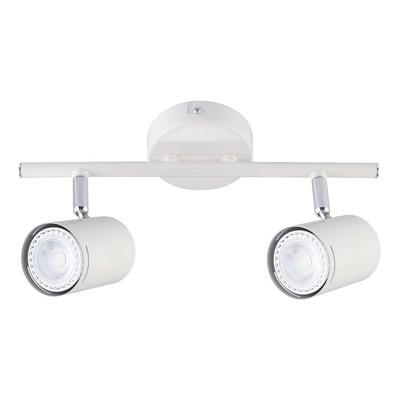 Aplique 2 Luces  Blanco Cromo Moderno Apto Led U1022 Mks