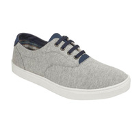 Sneakers grises con azul 018815