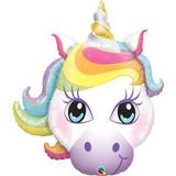 globo unicornio 97cm desinflado apto helio o aire