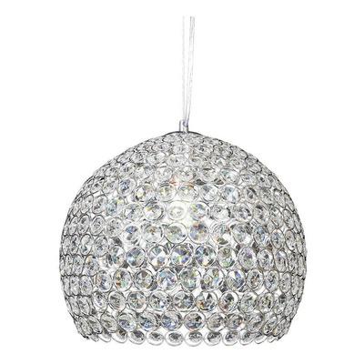 Colgante Esfera Cristal Cairel Cromo 20cm Copen Apto Led Mks