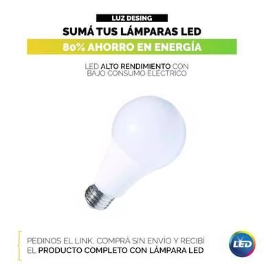 Lampara De Pie Arco Medium De Tela Apto Led Luz Desing