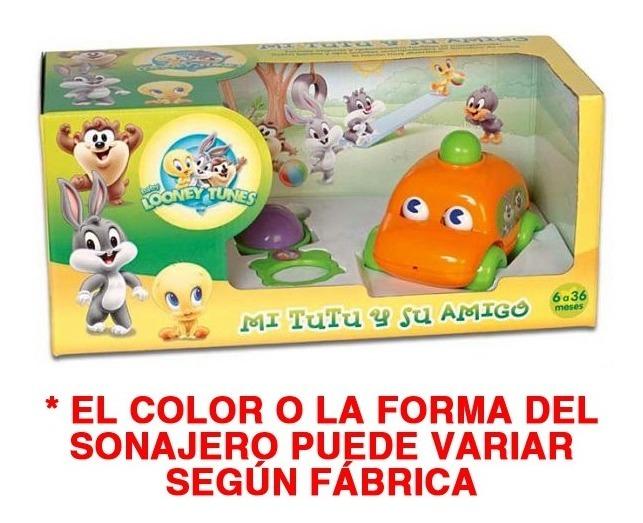 Auto Tutu Bocina + Sonajero Mordillo Looney Tunes Bebe Caja