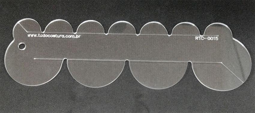 Régua, Gabarito de Barrados 30mm e 60mm - Patchwork