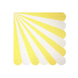 Servilletas Stripe amarillas chicas