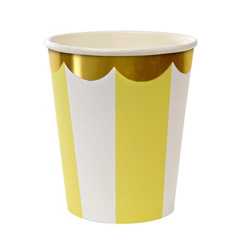 Vasos Stripe Amarillo