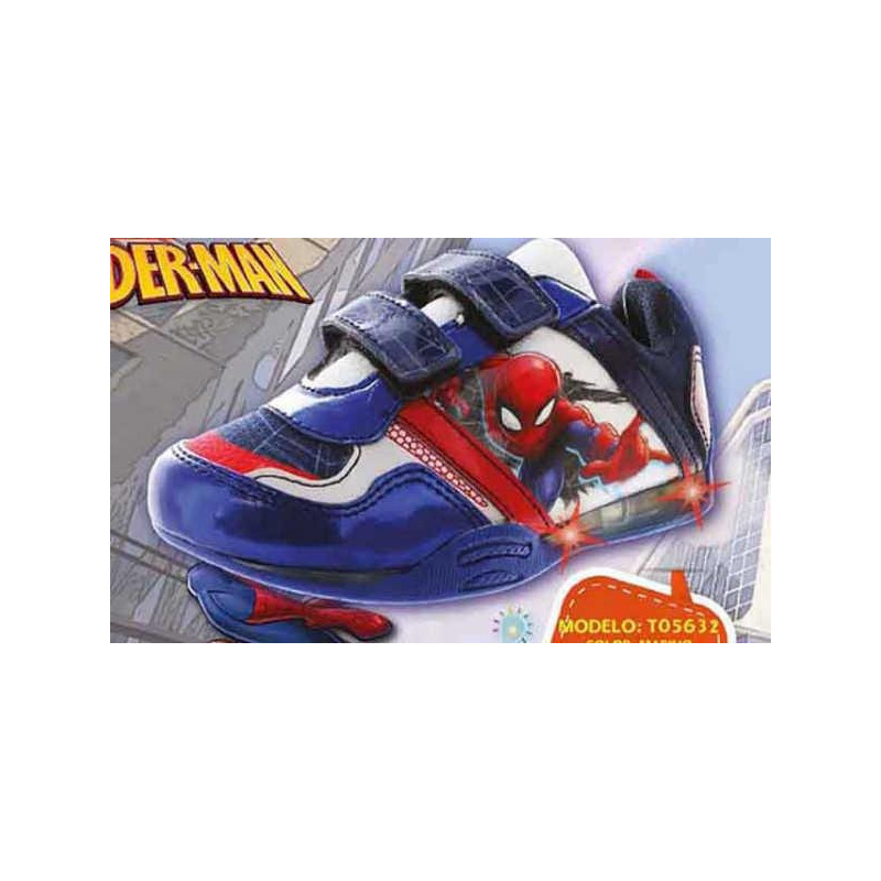 Sneakers Spiderman marino con luces T05632