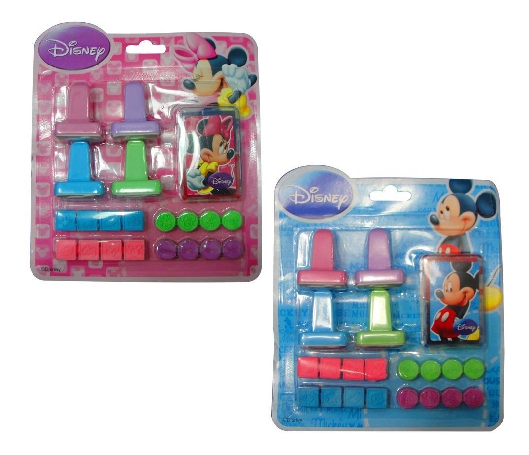 Kit X 2 Juegos Sellos Mickey Minnie Nene Nena Niño Regalo