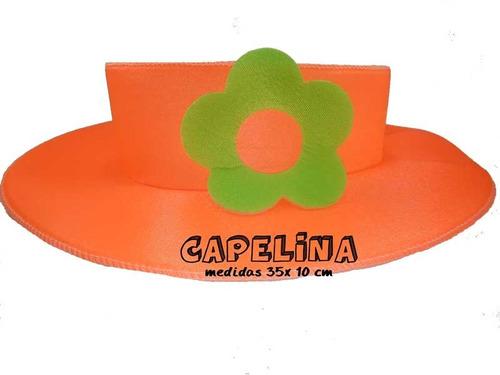 varios diseños recoger muchos de moda Capelina Fluo Tela Jersey X 4 Gorros Cotillon Carioca Fluor ...