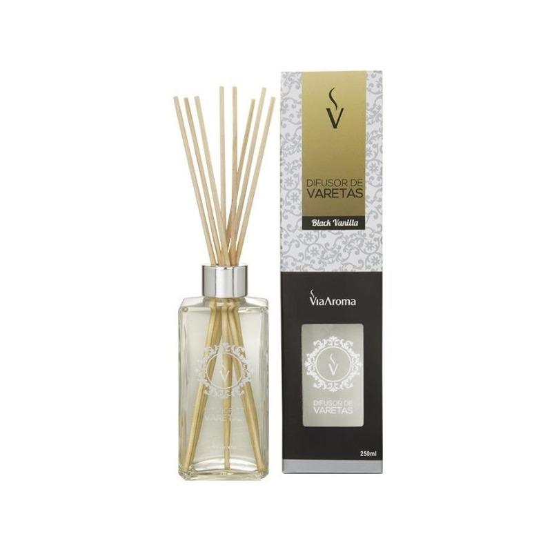 Aromatizador Ambientes Stick Black Vanilla 250ml Via Aroma