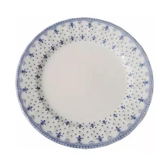 Plato Playo Porcelana Corona Elisa Estilo Ingles Fino Diseño