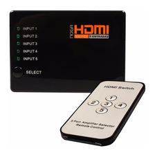 Switch Divisor Hdmi 5 Puertos Noga Hub 1080p Control Remoto