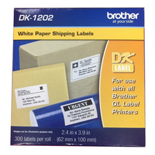 Rollo Etiquetas Cinta Brother Dk1202 62x100 Mm 300 Etiquetas