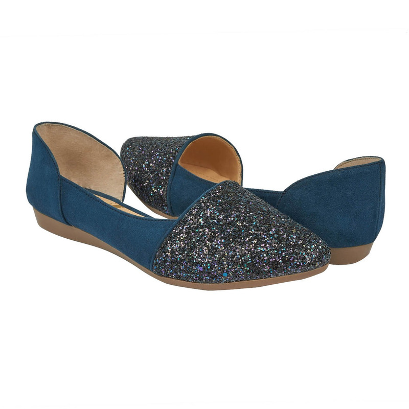 Flats marino con brillos 015886