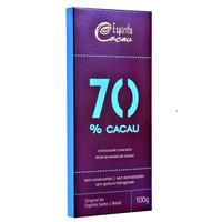 Chocolate com 70% Cacau - 100g - Espirito Cacau
