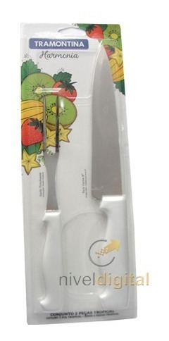 Set Cuchilla Carne + Tenedor Trinchante Tramontina Mango Pvc