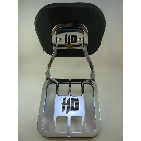 Sissy Bar Destacavel Cromado Harley Road King 09-13 Sben-18
